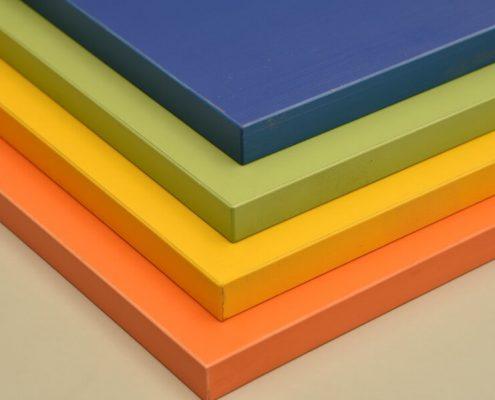 tableros de melamina en varios colores