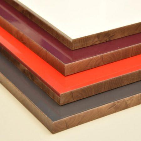 tableros de aplacado HPL varios colores