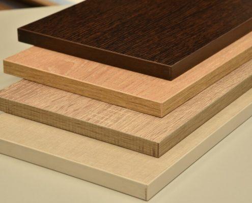 varios diseños de tablero de melamina